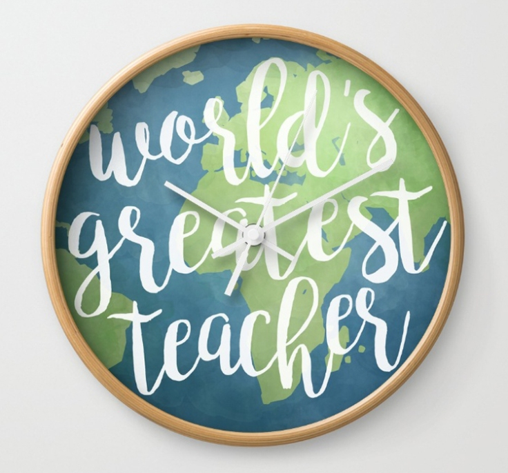 World's Greatest Teacher Wall Clock