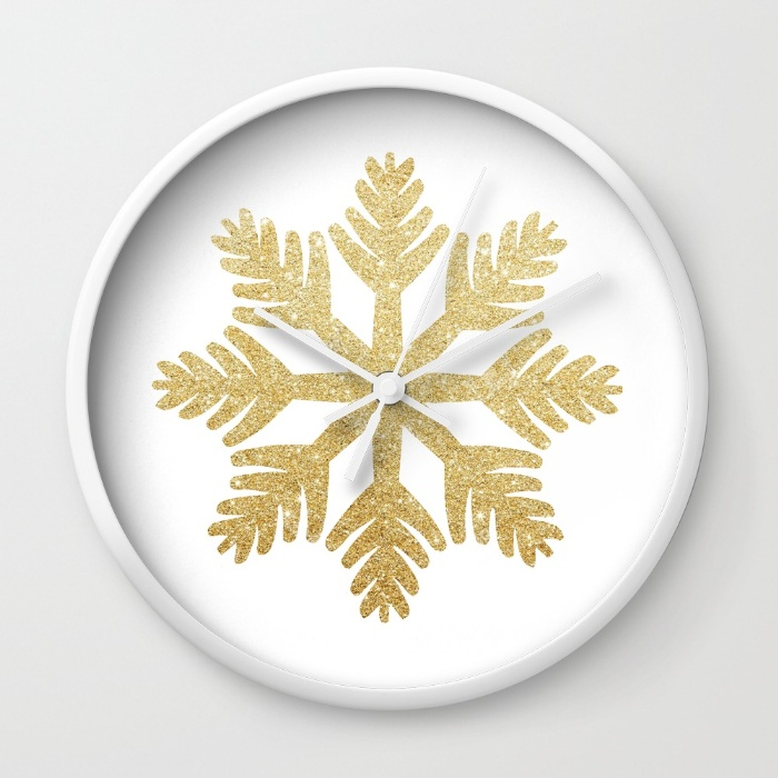 gold-glitter-snowflake-gyv-wall-clocks