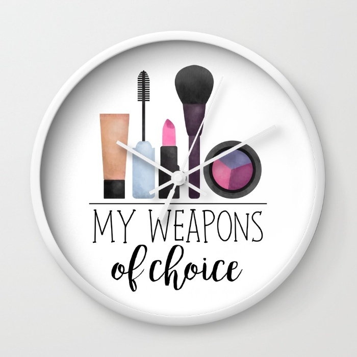 my-weapons-of-choice-makeup-wall-clocks