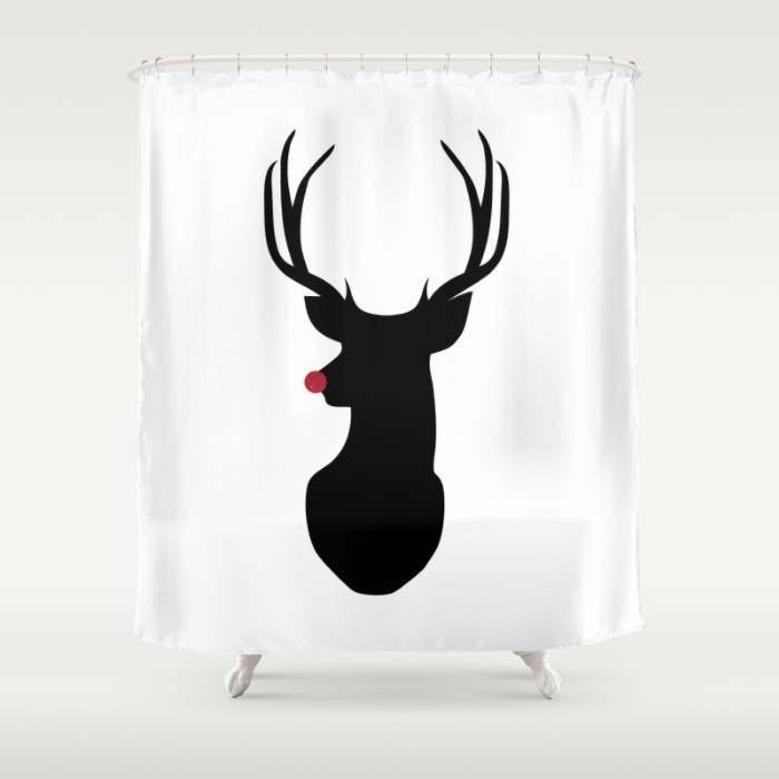 rudolph-the-red-nosed-reindeer-8c4-shower-curtains