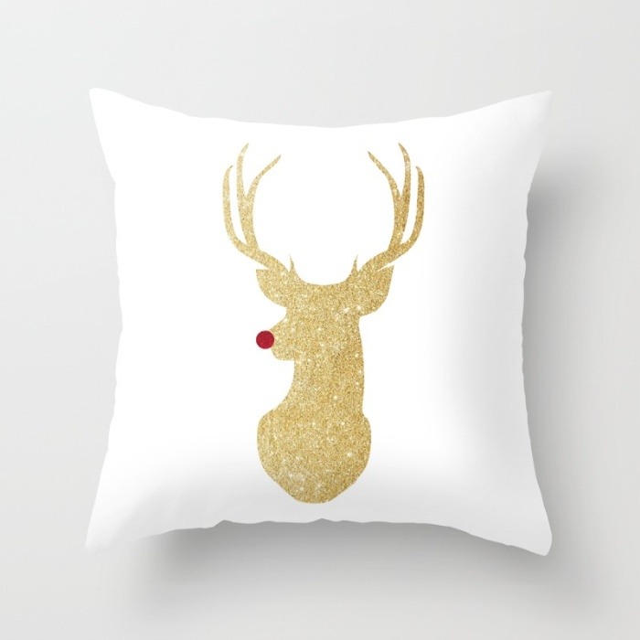 rudolph-the-red-nosed-reindeer-gold-glitter-ihb-pillows