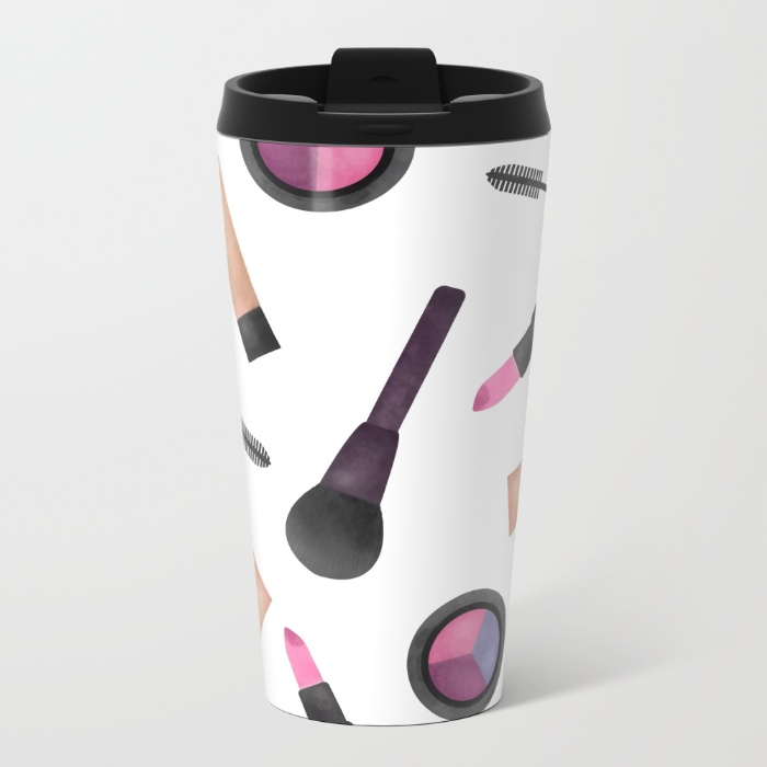 scattered-makeup-pattern-ply-metal-travel-mugs