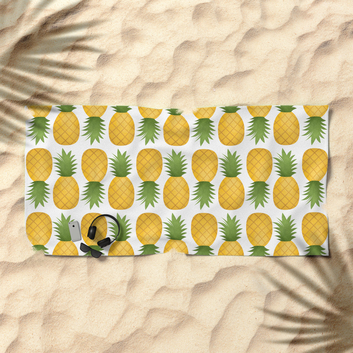 pineapple-pattern-dv4-beach-towels