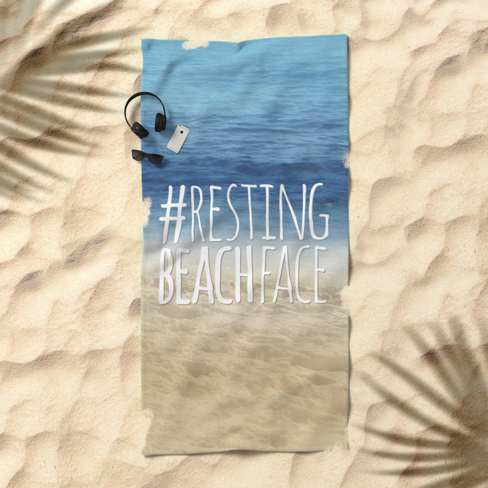 restingbeachface-beach-towels