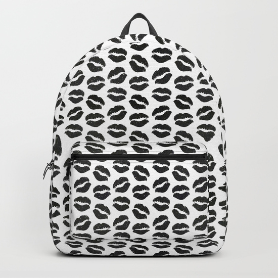 black-glitter-lips-backpacks