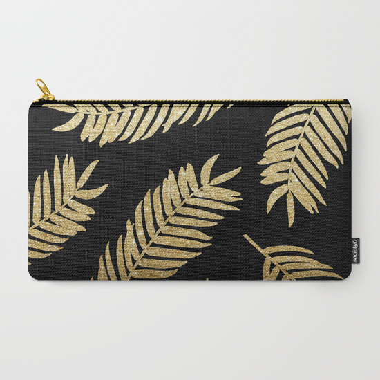 gold-glitter-palms--black-background-carry-all-pouches