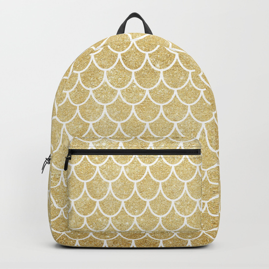 mermaid-tail-pattern--gold-glitter-backpacks