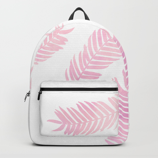 pink-palm-leaves--white-background-backpacks