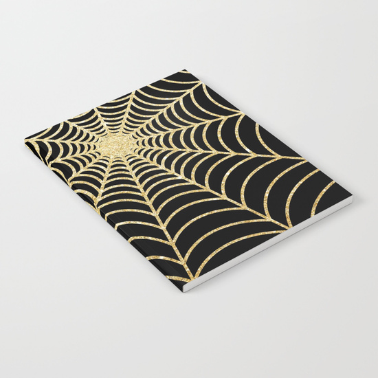 spiderweb--gold-glitter-n48-notebooks