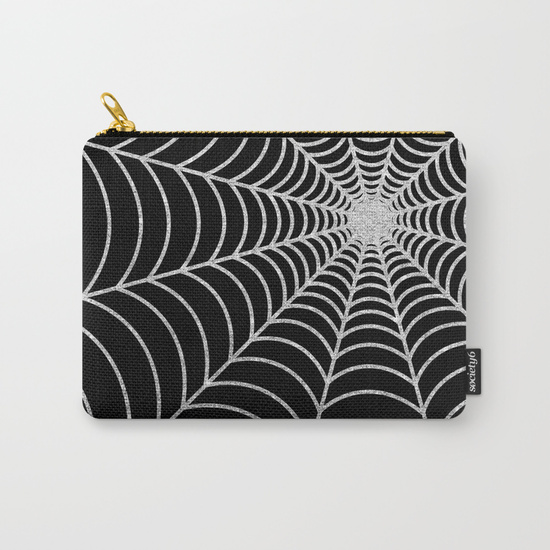 spiderweb--silver-glitter-thu-carry-all-pouches