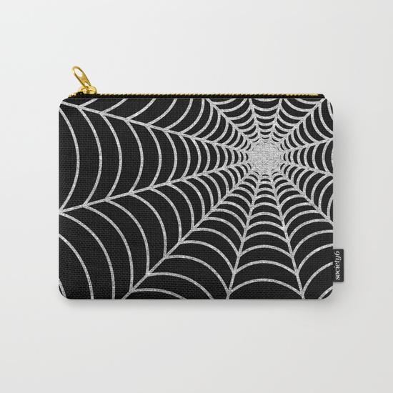 spiderweb--silver-glitter-thu-carry-all-pouches